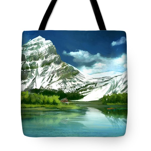 Clear Lake And Mountains Tote Bag
