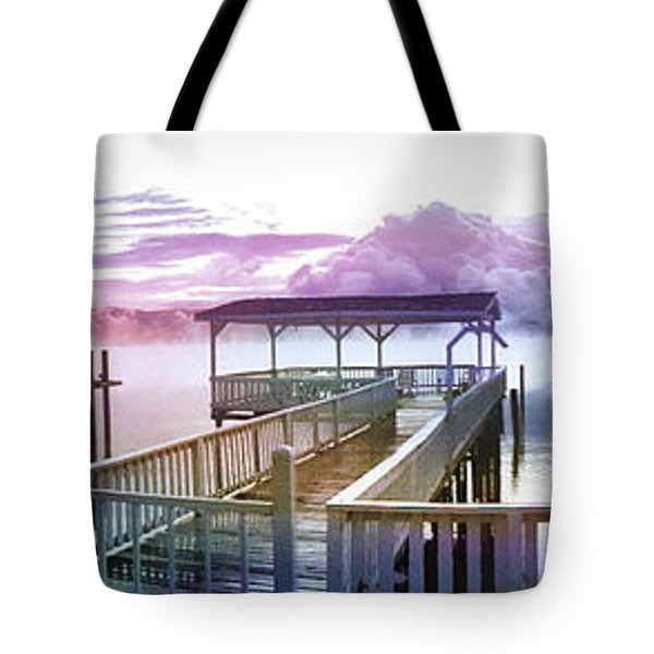 Clouds On Clear Lake Tote Bag