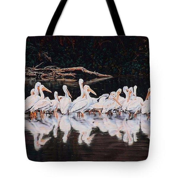 Clear Lake Pelicans Tote Bag