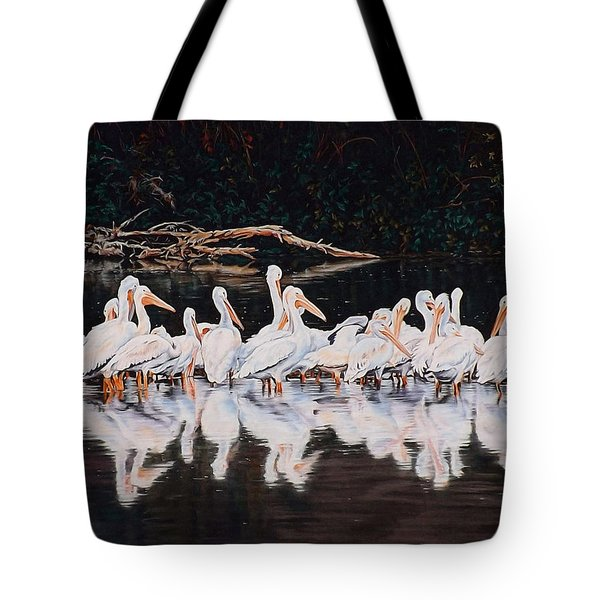 Clear Lake Pelicans Tote Bag