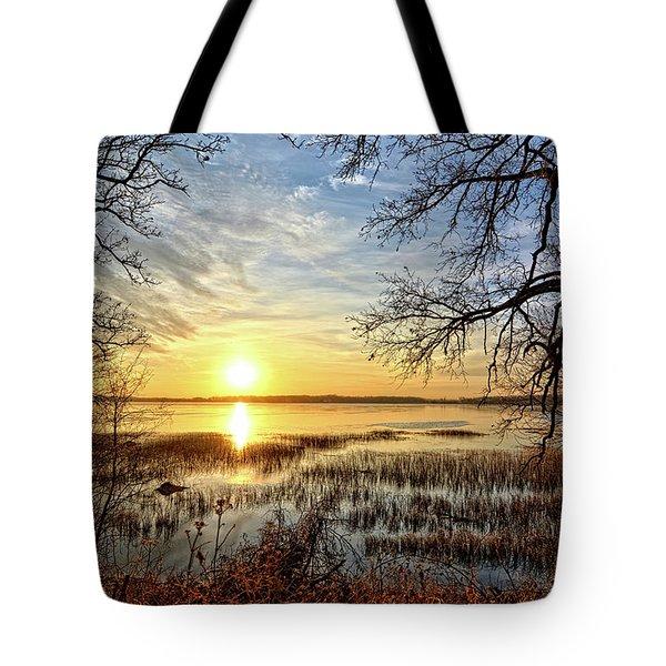 Clear Lake Sunrise 3 Tote Bag