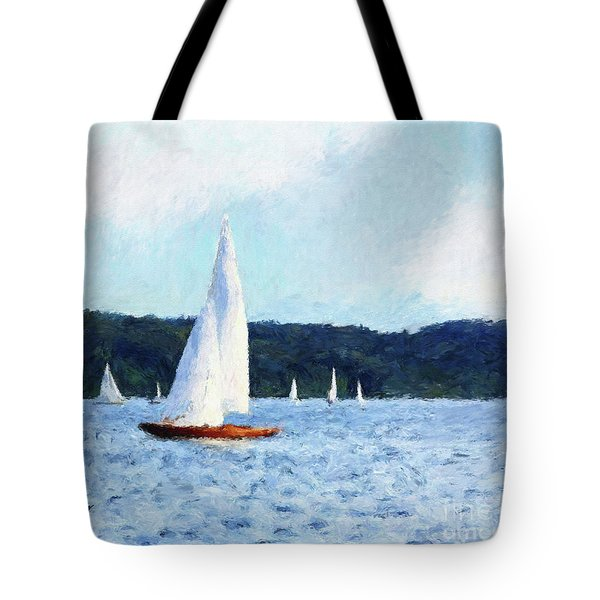 Clear Sailing Tote Bag by Shirley Stalter