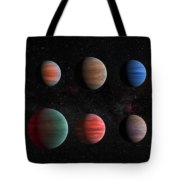 Clear To Cloudy Hot Jupiters Tote Bag