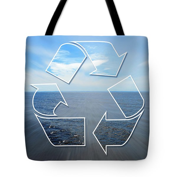 Clear Vision Of Nature Through A Recycling Sign Tote Bag