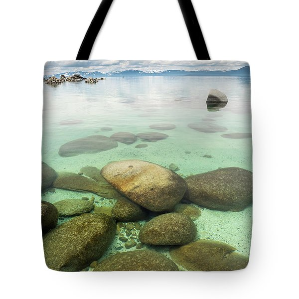 Clear Water, Stormy Sky Tote Bag