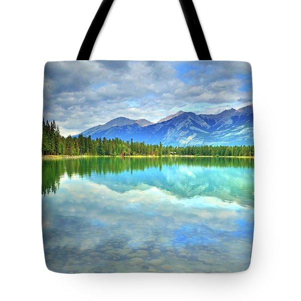 Tote Bag featuring the photograph Clear Waters At Lake Annette by Tara Turner