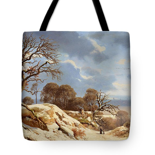 Clear Winter's Day By The Baltic Sea Tote Bag