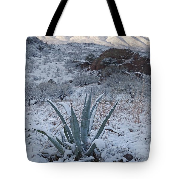 Clearing Desert Snowstorm Tote Bag