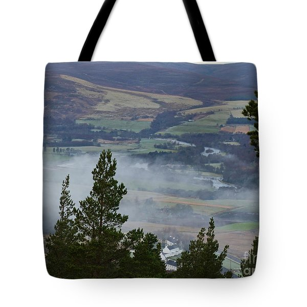 Clearing Mist At Tormore  Tote Bag