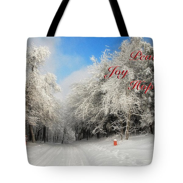 Clearing Skies Christmas Card Tote Bag by Lois Bryan