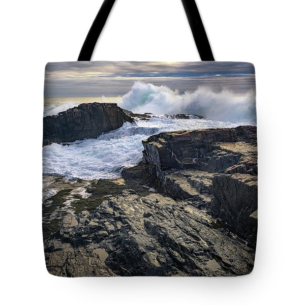 Tote Bag featuring the photograph Clearing Storm At Bald Head Cliff by Rick Berk