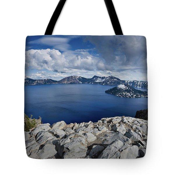 Clearing Storm At Crater Lake Tote Bag