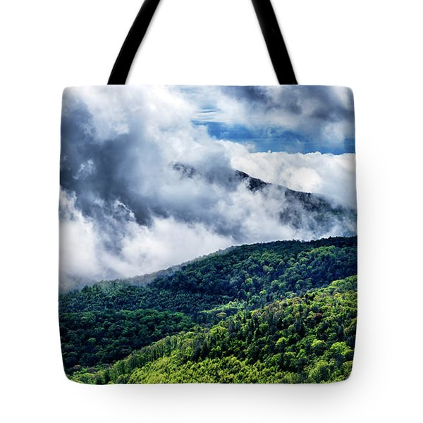 Tote Bag featuring the photograph Clearing Storm Highland Scenic Highway by Thomas R Fletcher