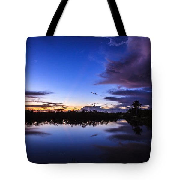 Clearing Storm Over The Anhinga Trail Tote Bag by Jonathan Gewirtz