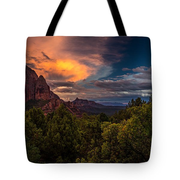 Clearing Storm Over Zion National Park Tote Bag