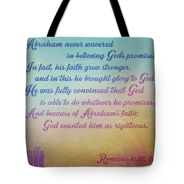 Clearly, God's Promise To Give The Tote Bag
