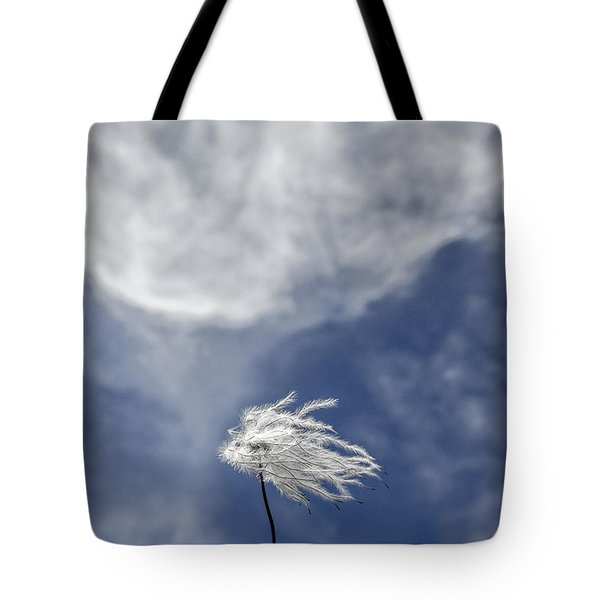 Clematis And Clouds Tote Bag