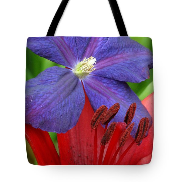 Clematis And Lily Tote Bag
