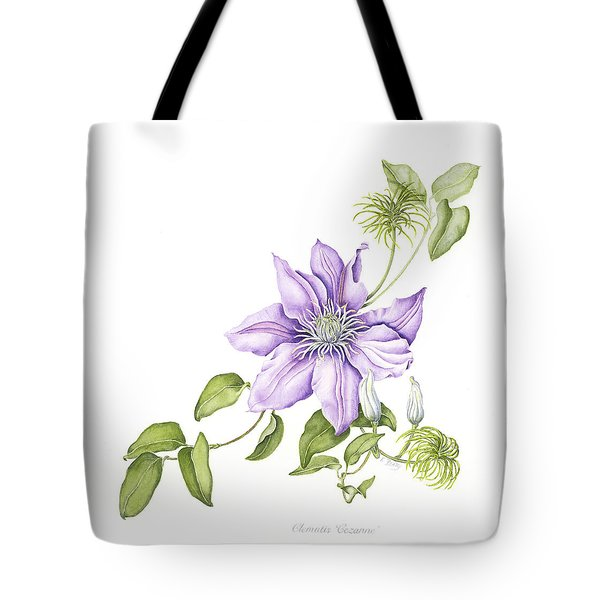 Clematis Cezanne Tote Bag