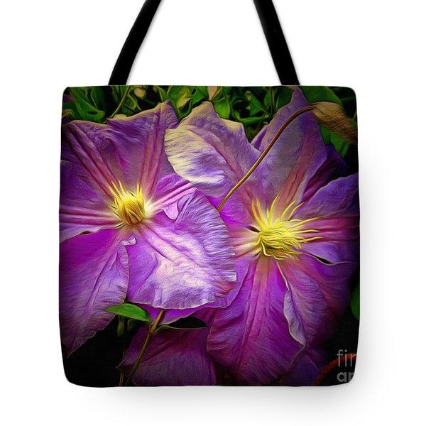 Clematis Azure Pearl Tote Bag