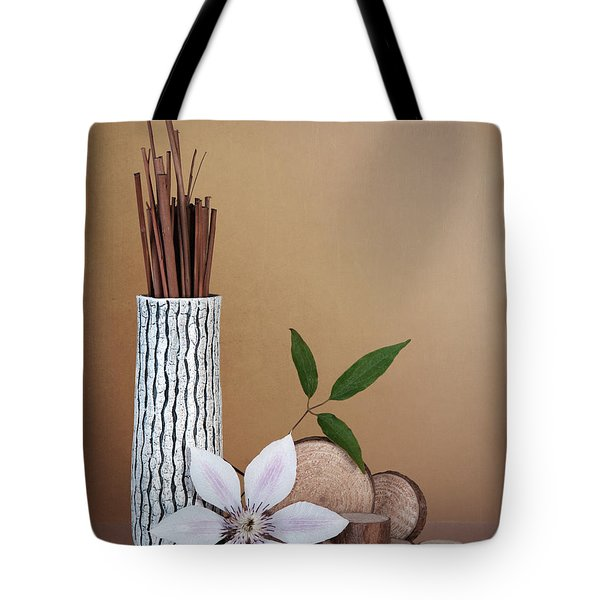 Clematis Flower Still Life Tote Bag