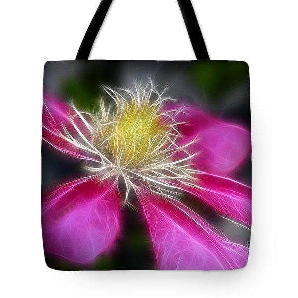 Clematis In Pink Tote Bag by Deborah Benoit