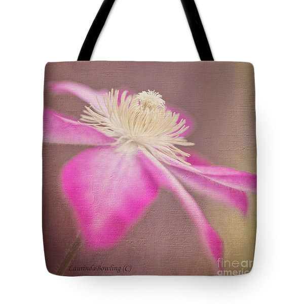 Clematis In Square Format Tote Bag