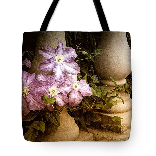 Clematis In The Garden Tote Bag