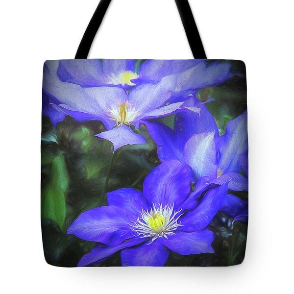 Clematis Tote Bag by Linda Blair