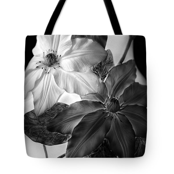 Clematis Overlay Tote Bag