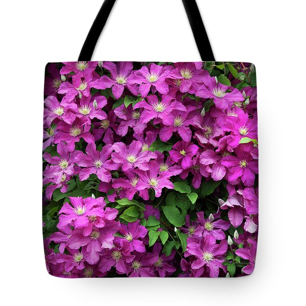 Clematis Remembrance Flowers Tote Bag