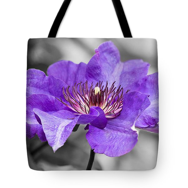 Clematis Tote Bag by Scott Carruthers