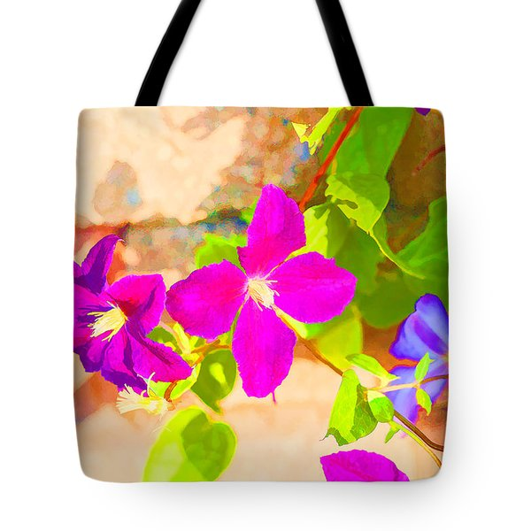 Clematis Summer Tote Bag