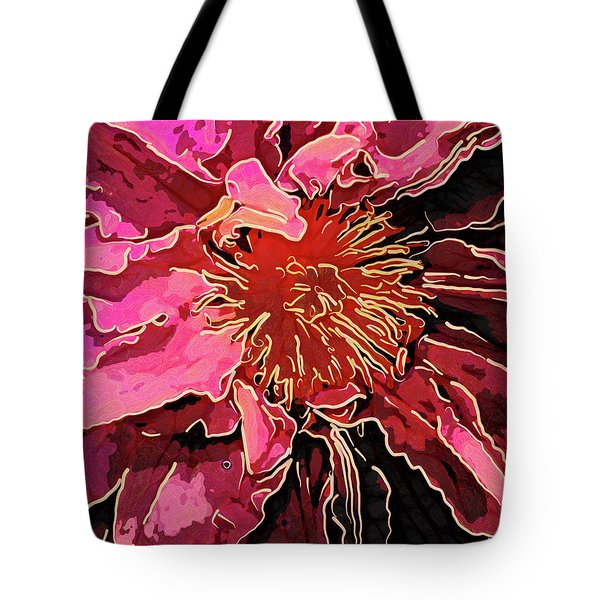 Clematis Up Close And Personal Tote Bag