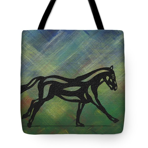 Clementine - Abstract Horse Tote Bag