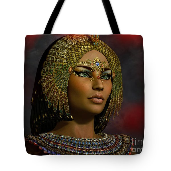 Tote Bag featuring the digital art Cleopatra 2 E  by Shadowlea Is