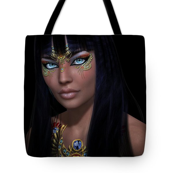 Tote Bag featuring the digital art Cleopatra   Col by Shadowlea Is