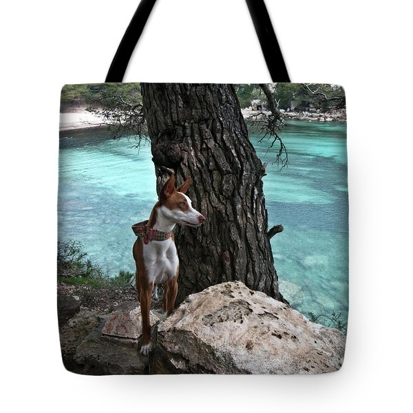 Cleopatra In A Turquoise Paradise Tote Bag by Pedro Cardona Llambias