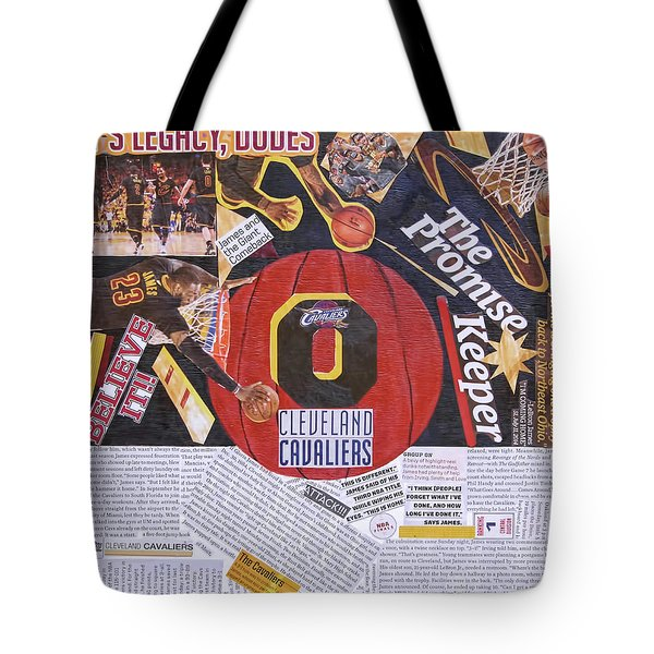 Tote Bag featuring the painting Cleveland Cavaliers 2016 Champs by Colleen Taylor