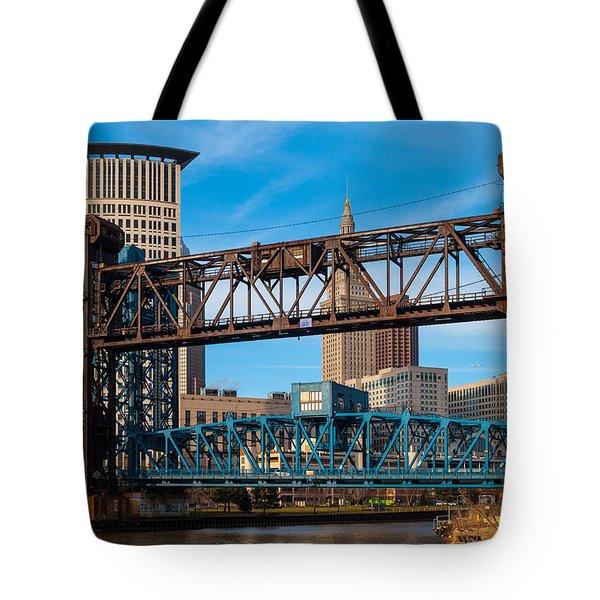 Cleveland City Of Bridges Tote Bag