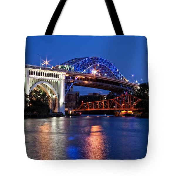 Cleveland Colored Bridges Tote Bag