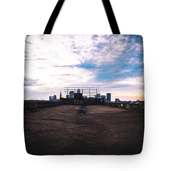 Cleveland From Afar Tote Bag