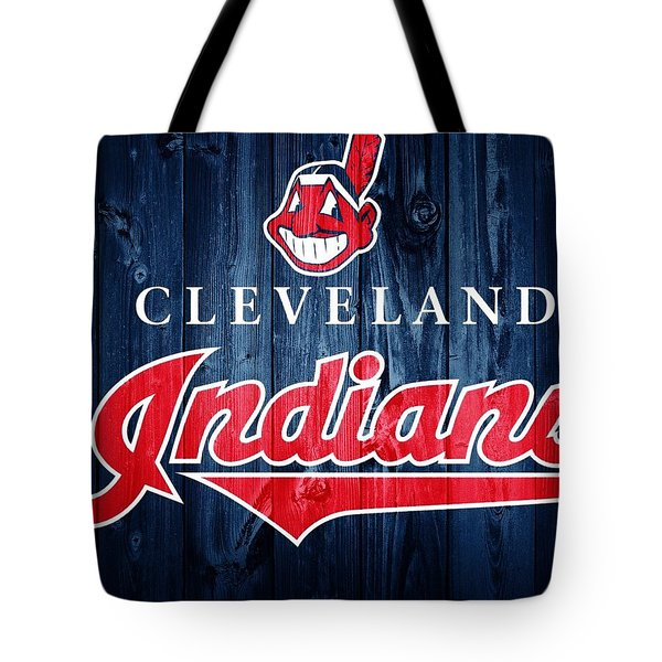 Cleveland Indians Barn Door Tote Bag