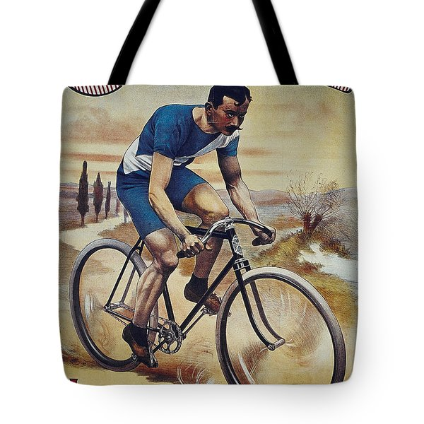 Cleveland Lesna Cleveland Gagnant Bordeaux Paris 1901 Vintage Cycle Poster Tote Bag by R Muirhead Art