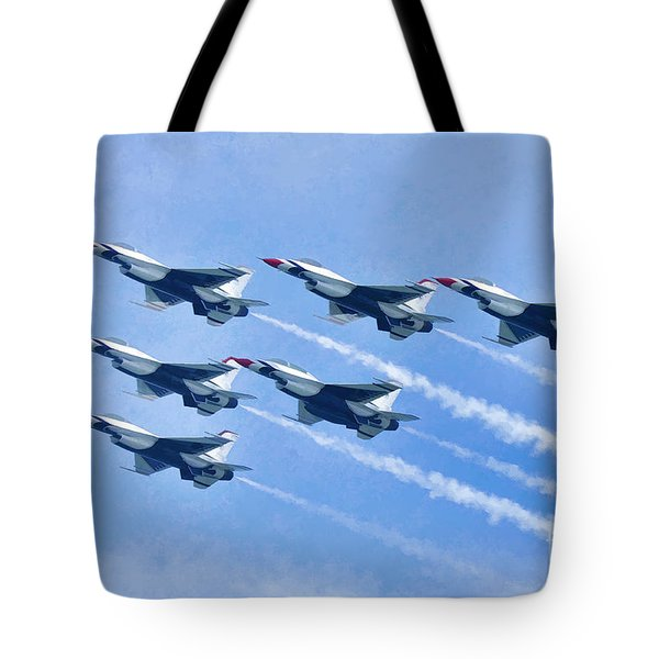 Cleveland National Air Show - Air Force Thunderbirds - 1 Tote Bag