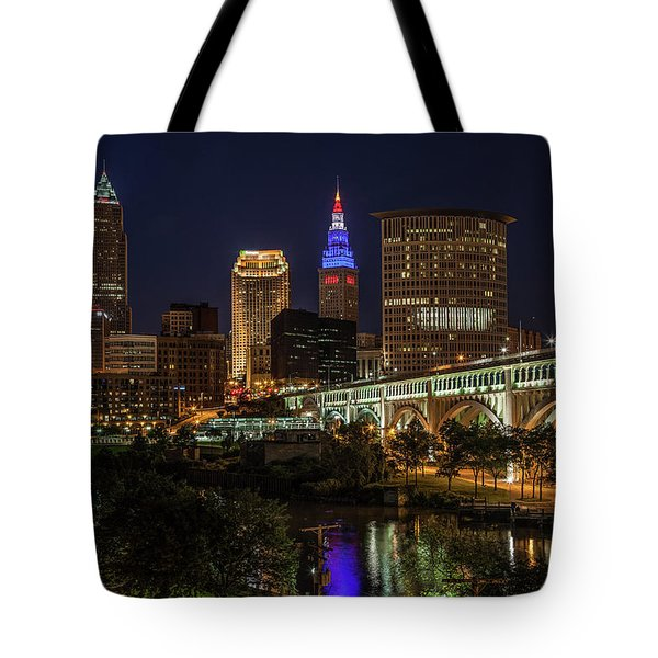 Cleveland Nightscape Tote Bag
