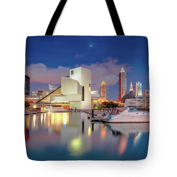 Tote Bag featuring the photograph Cleveland Ohio 2  by Emmanuel Panagiotakis