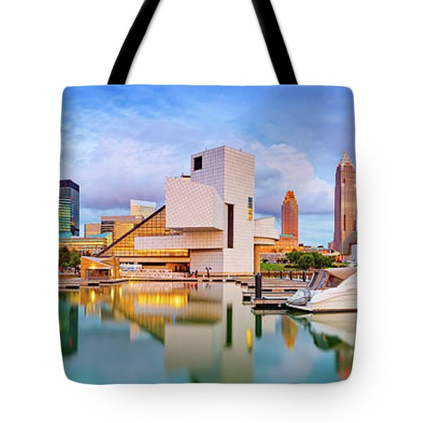 Tote Bag featuring the photograph Cleveland  Pano 1  by Emmanuel Panagiotakis