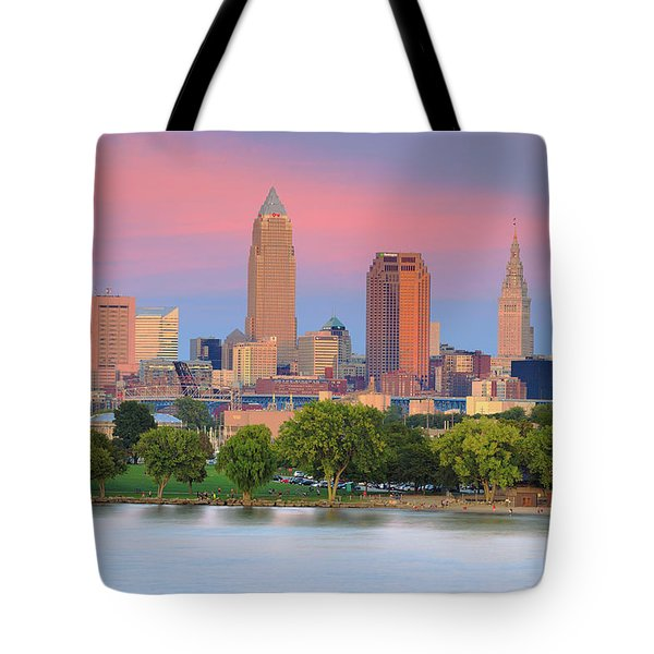 Cleveland Skyline 6 Tote Bag