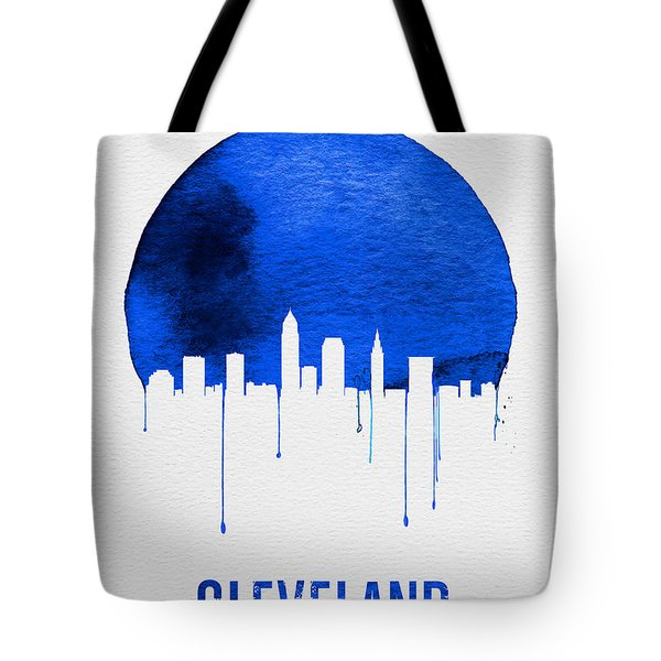 Cleveland Skyline Blue Tote Bag